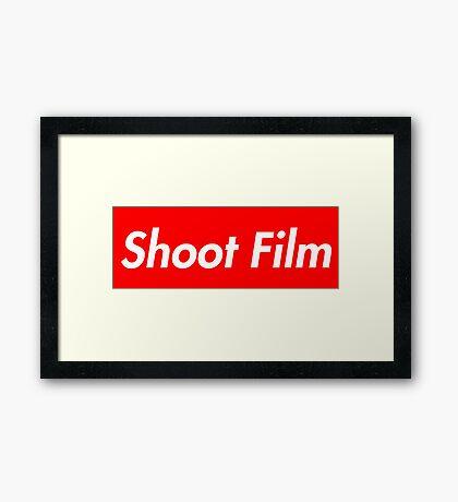 Shoot Film (Supreme Style) Framed Print