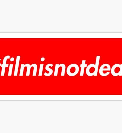 #filmisnotdead (Supreme Style) Sticker