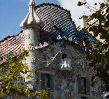 Antoni Gaudi's Casa Batllo Through Sycamore Trees Sticker