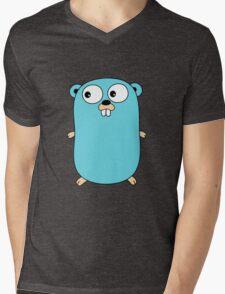 Go Language logo Mens V-Neck T-Shirt
