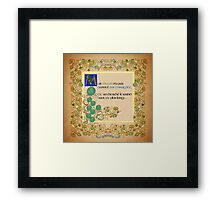 But Oscar did not listen French Version Framed Print