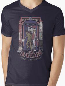Time Travelers Mens V-Neck T-Shirt