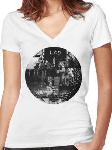 LCD Soundsystem - Disco ball Women's Fitted V-Neck T-Shirt
