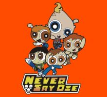 Powerpuff Goonies Never Say Die Kids Tee