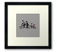 Family sunday is a fun day Framed Print