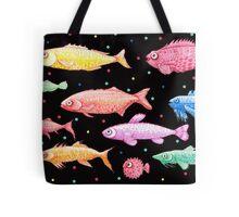 rainbow fish in the dark Tote Bag