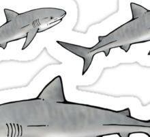 shark love stickers (6-up) rec. Med/Lge option Sticker