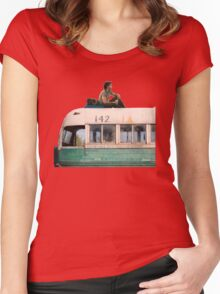 """""""Happiness is only real when shared"""" Women's Fitted Scoop T-Shirt"""