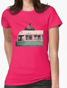 """""""Happiness is only real when shared"""" Womens Fitted T-Shirt"""