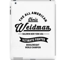 Chris Weidman iPad Case/Skin