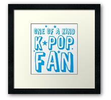 ONE OF A KIND k-pop fan Framed Print