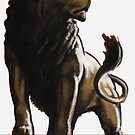 Stand Firm Lion by warishellstore