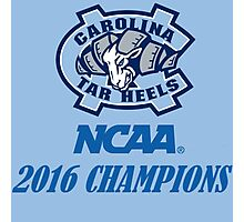 North Carolina Tar Heels NCAA 2016 Champions Photographic Print