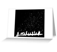 fellowship under starry sky Greeting Card