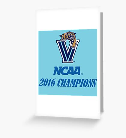 Villanova Wildcats 2016 NCAA Champions Greeting Card
