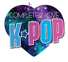 Completely love kpop (heart universe) Photographic Print