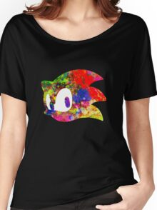 Sonic logo (painting) Women's Relaxed Fit T-Shirt