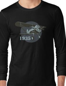Retro fighter plane Long Sleeve T-Shirt