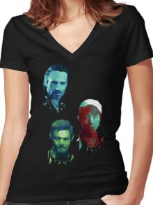 The Walking Dead Rick, Daryl and Glenn Women's Fitted V-Neck T-Shirt