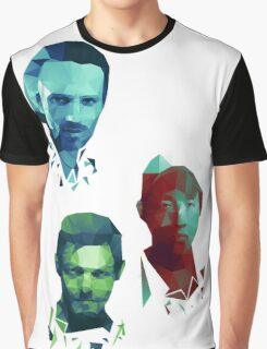 The Walking Dead Rick, Daryl and Glenn Graphic T-Shirt