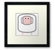 Iconic Animals of the FARM: the sheep Framed Print