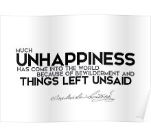 things left unsaid - dostoevsky Poster