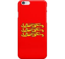 Royal Banner of England, England, Three Lions, 3 Lions, English, British, Britain, UK, RED iPhone Case/Skin