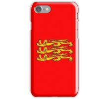 Three Lions, Royal Banner of England, England, 3 Lions, English, British, Britain, UK, RED iPhone Case/Skin