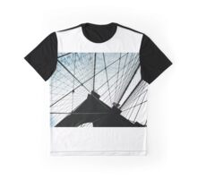 Brooklyn Bridge New York Silhouette Graphic T-Shirt