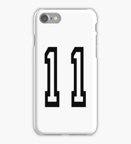 11, TEAM SPORTS, NUMBER 11, Eleven, Eleventh, Competition iPhone Case/Skin