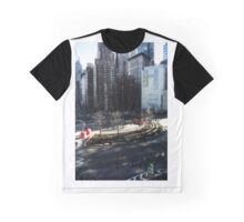 New York Columbus Circle Graphic T-Shirt