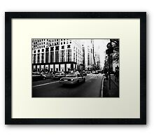 New York 5th Avenue Black & White Framed Print