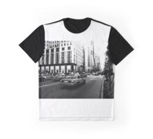 New York 5th Avenue Black & White Graphic T-Shirt