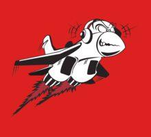 Cartoon crazy jet fighter One Piece - Long Sleeve