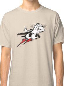 Cartoon crazy jet fighter Classic T-Shirt
