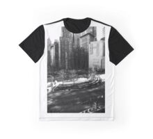 New York Columbus Circle Black & White Graphic T-Shirt