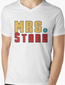 Mrs Stark Mens V-Neck T-Shirt
