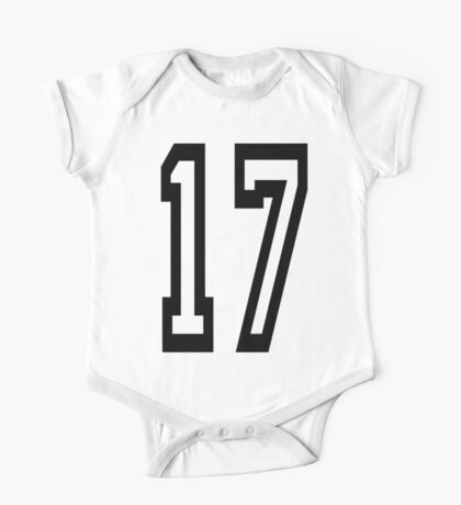 17, TEAM SPORTS, NUMBER 17, SEVENTEEN, SEVENTEENTH, ONE, SEVEN, Competition,  One Piece - Short Sleeve