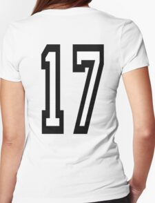 17, TEAM SPORTS, NUMBER 17, SEVENTEEN, SEVENTEENTH, ONE, SEVEN, Competition,  Womens Fitted T-Shirt