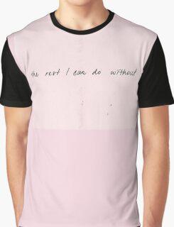 THE 1975 - SOMEBODY ELSE LYRICS Graphic T-Shirt
