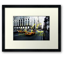 New York 5th Avenue Graphic Framed Print