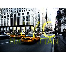 New York 5th Avenue Graphic Photographic Print