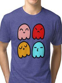 Pacman Ghosts Tri-blend T-Shirt