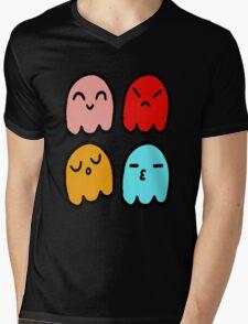 Pacman Ghosts Mens V-Neck T-Shirt