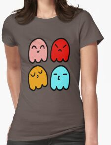 Pacman Ghosts Womens Fitted T-Shirt