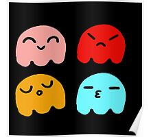 Pacman Ghosts Poster