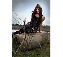 Sway In the Wasteland - Apocalyptic Dieselpunk Pinup Photographic Print