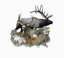 Bull elk and mule deer buck Unisex T-Shirt