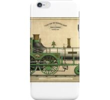 Twenty Four Ton Passenger Engine, 'Gen. Stark', delineated by Chas F Thomas  iPhone Case/Skin