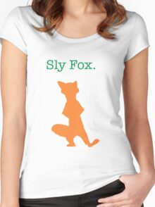 Zootopia / Zootropolis - Nick Wilde Sly Fox Women's Fitted Scoop T-Shirt